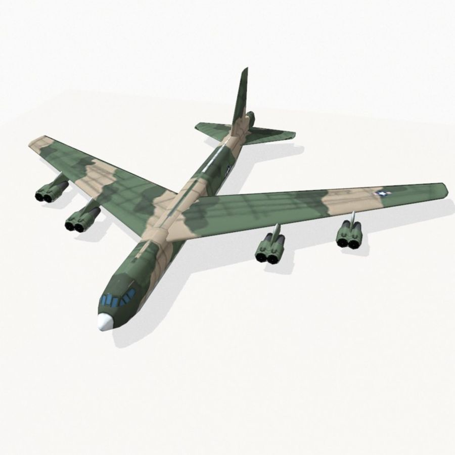 B-52 Stratofortress royalty-free 3d model - Preview no. 3