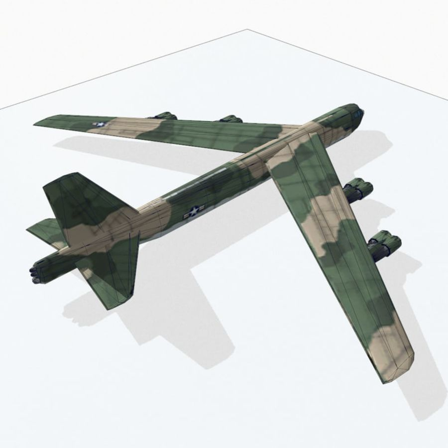 B-52 Stratofortress royalty-free 3d model - Preview no. 13