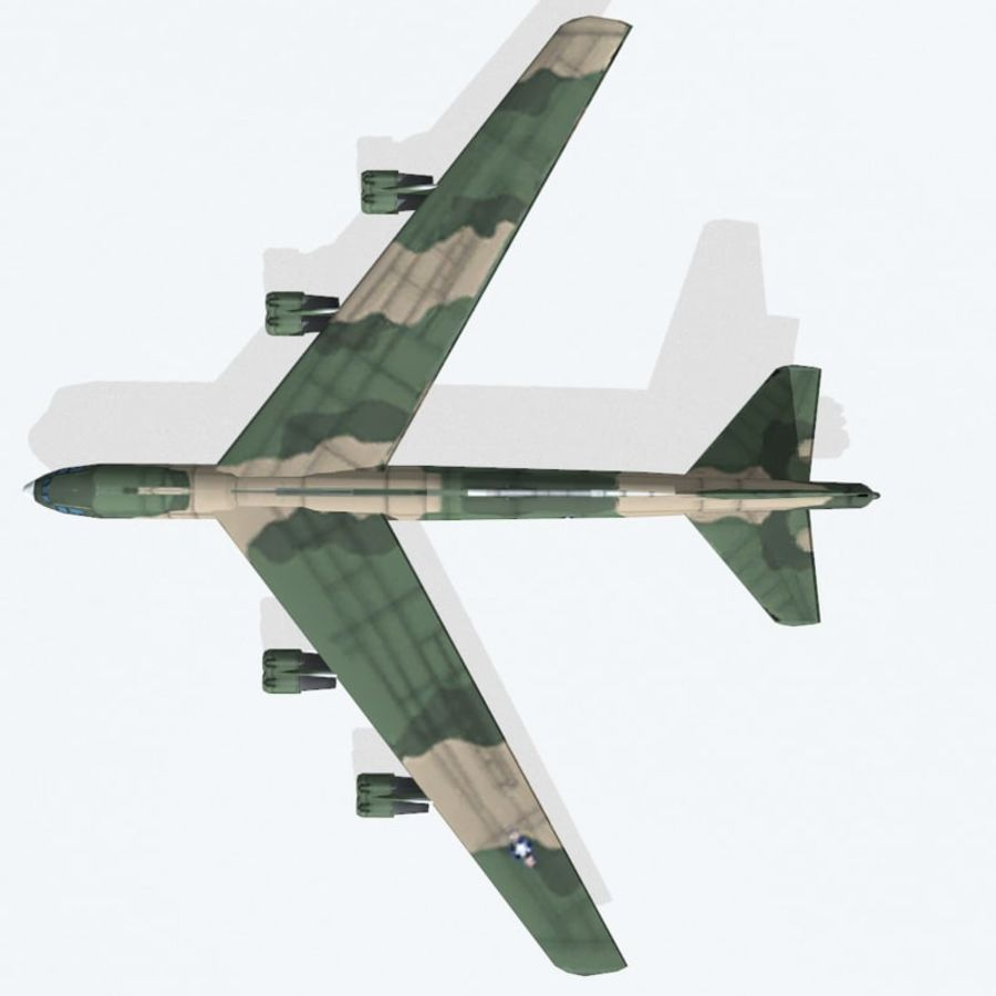 B-52 Stratofortress royalty-free 3d model - Preview no. 10