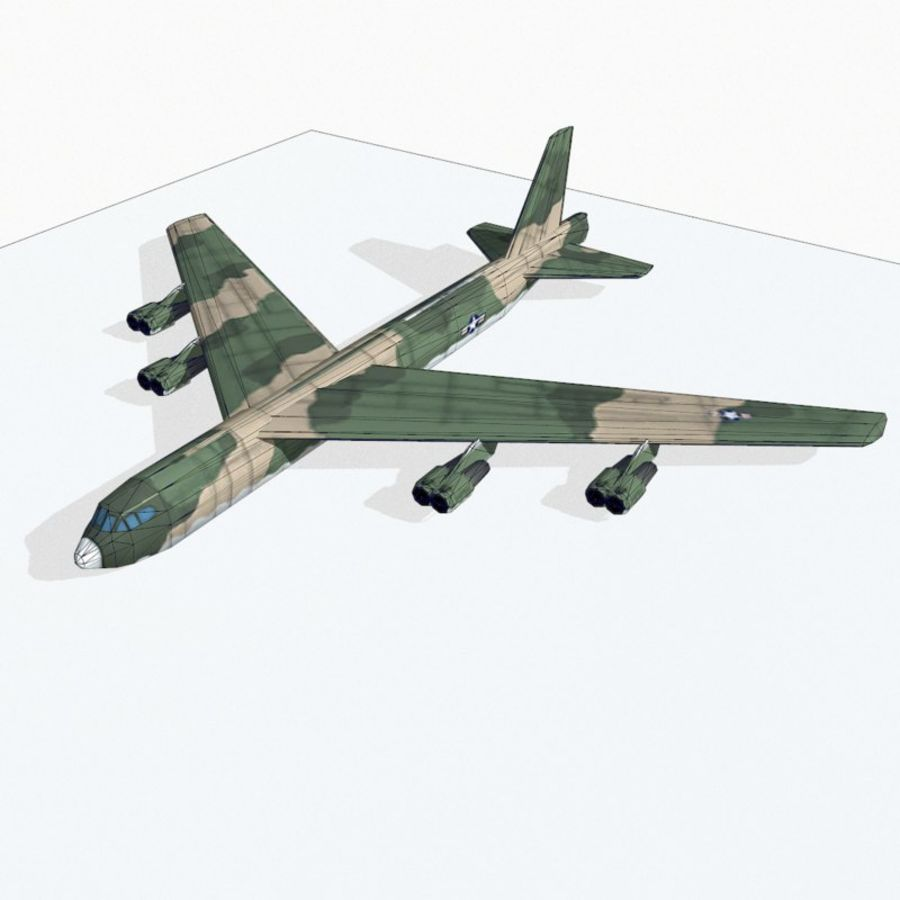 B-52 Stratofortress royalty-free 3d model - Preview no. 11