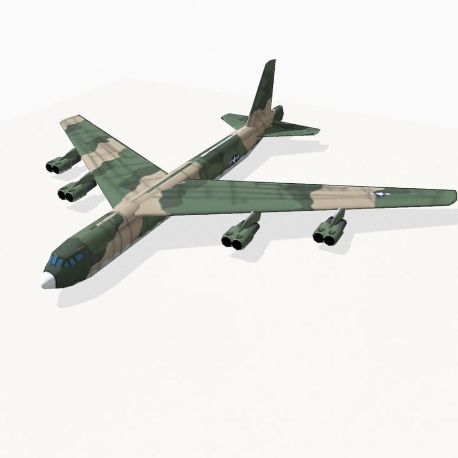 B-52 Stratofortress royalty-free 3d model - Preview no. 2