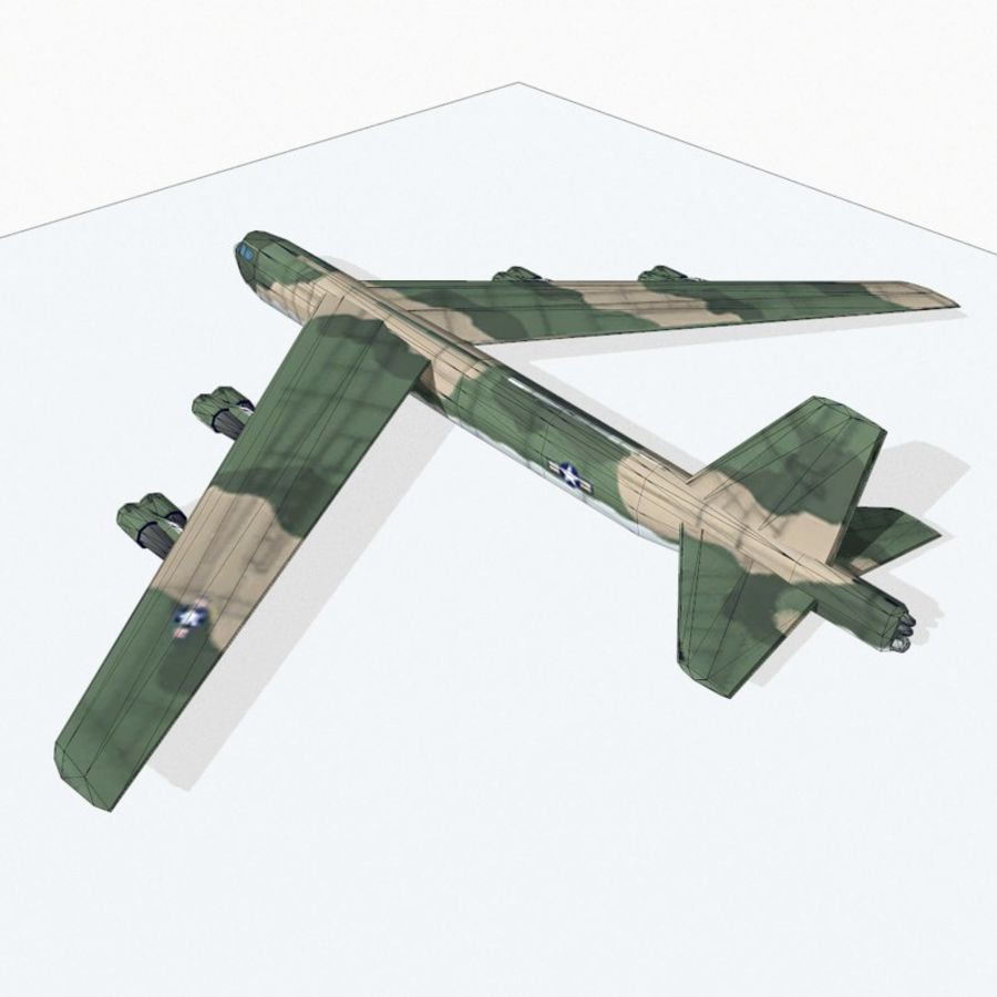 B-52 Stratofortress royalty-free 3d model - Preview no. 12