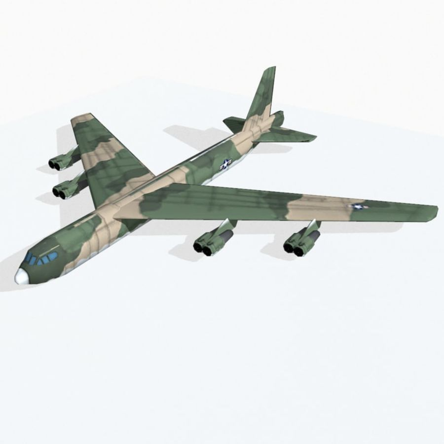 B-52 Stratofortress royalty-free 3d model - Preview no. 7