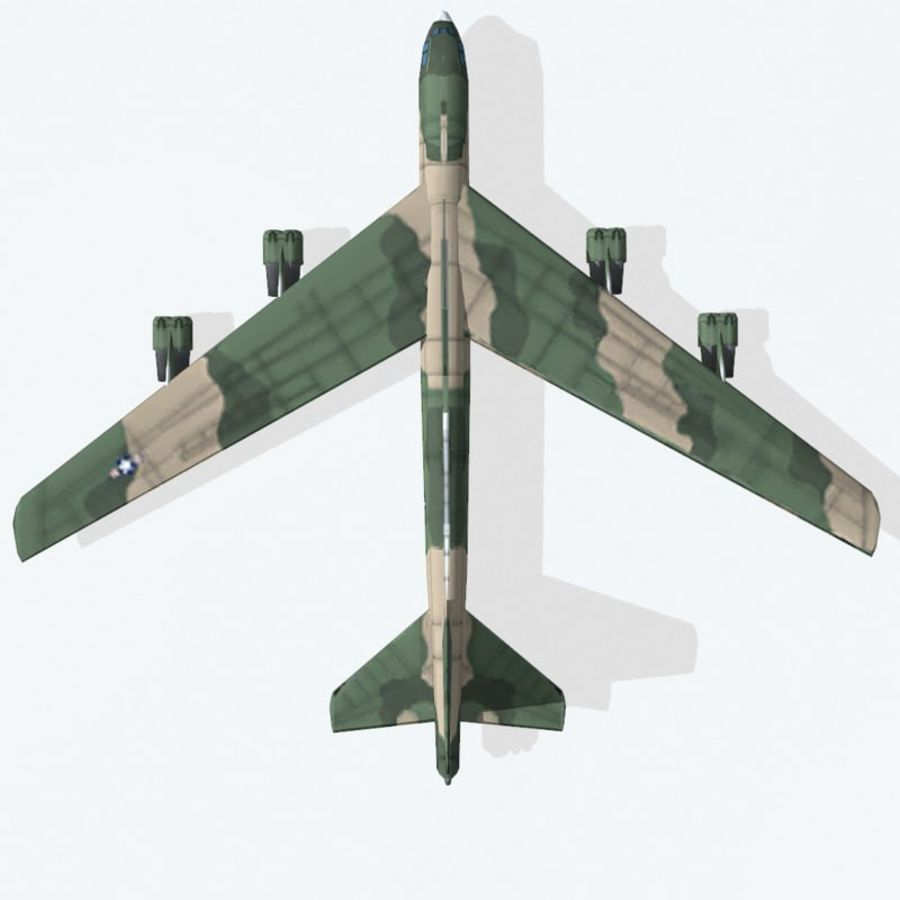 B-52 Stratofortress royalty-free 3d model - Preview no. 9