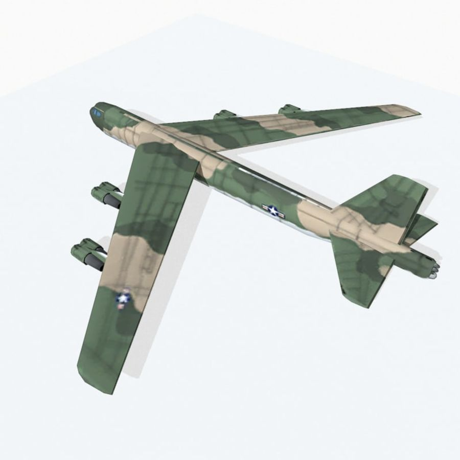 B-52 Stratofortress royalty-free 3d model - Preview no. 4