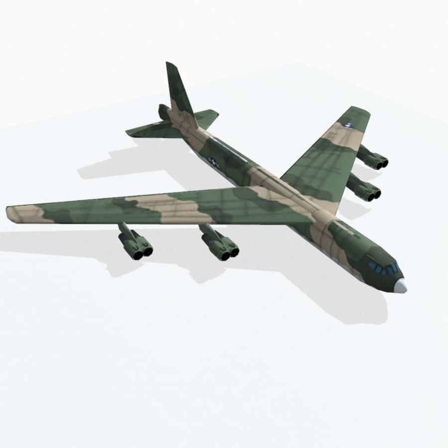 B-52 Stratofortress royalty-free 3d model - Preview no. 6