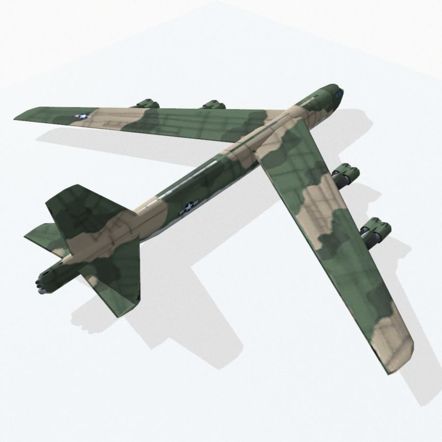 B-52 Stratofortress royalty-free 3d model - Preview no. 5
