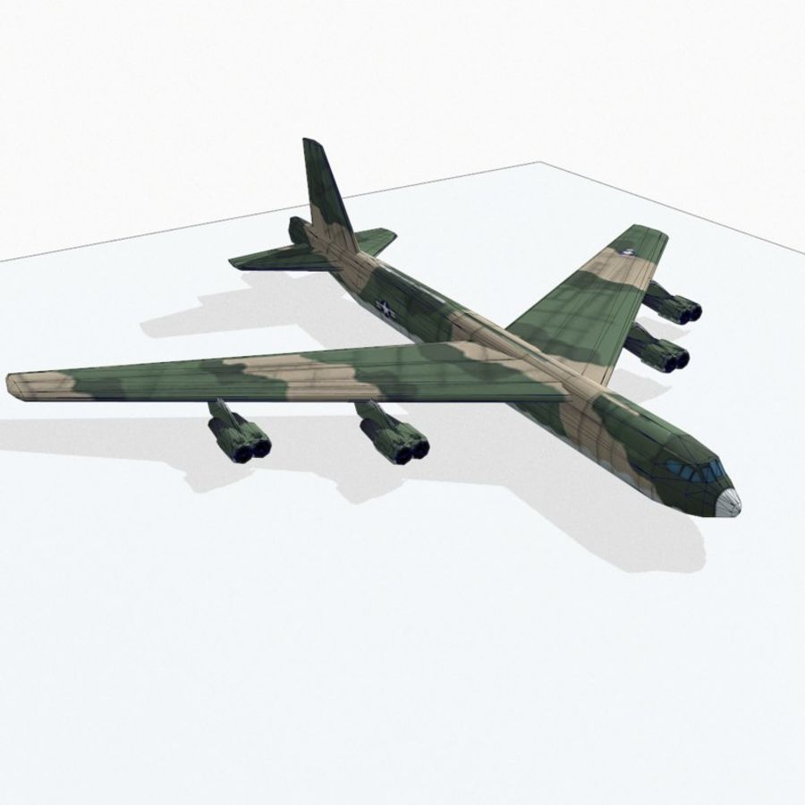 B-52 Stratofortress royalty-free 3d model - Preview no. 14