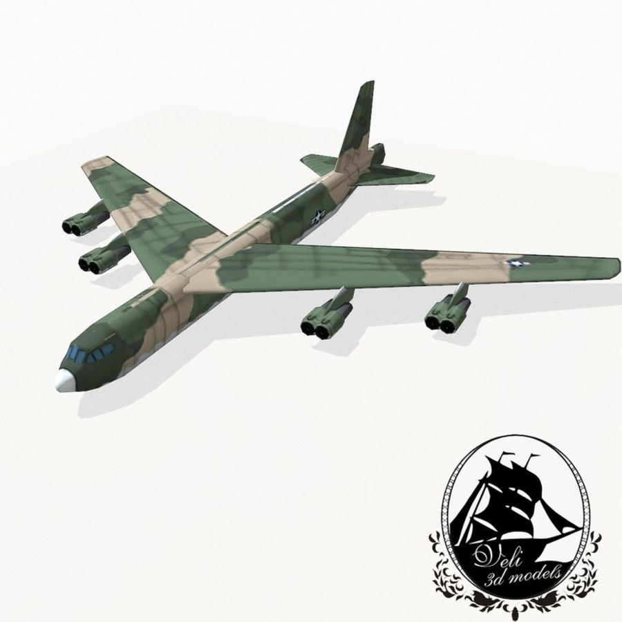 B-52 Stratofortress royalty-free 3d model - Preview no. 1