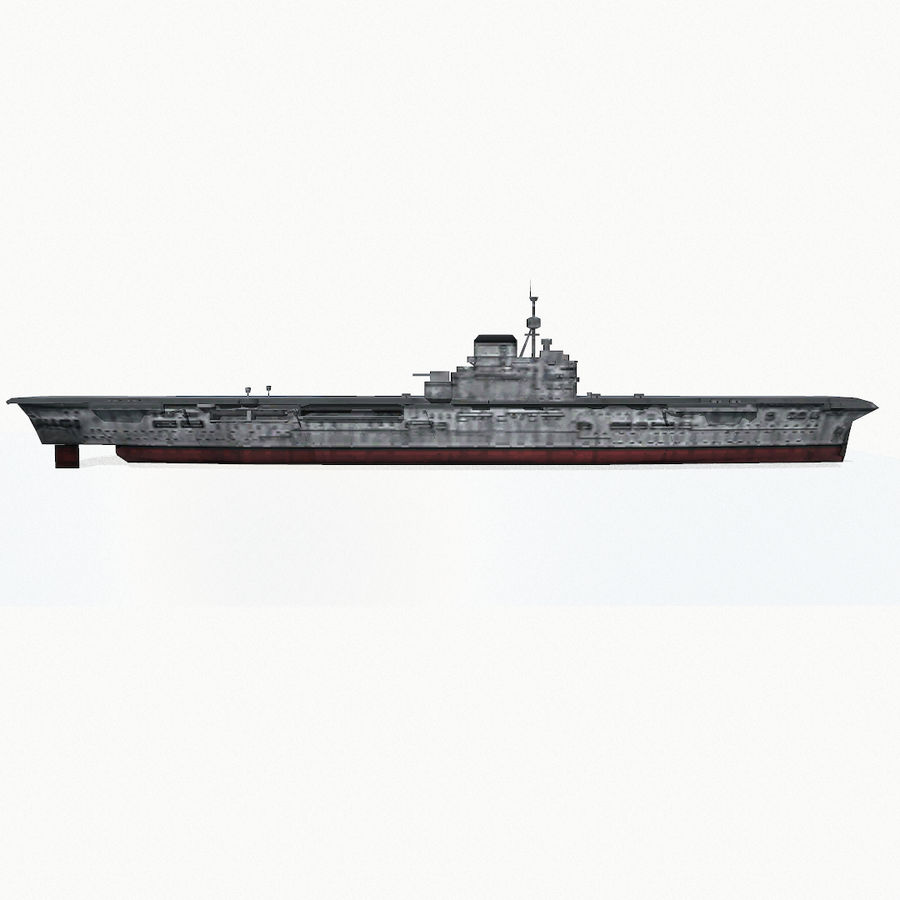 Illustrious-class aircraft carrier royalty-free 3d model - Preview no. 10