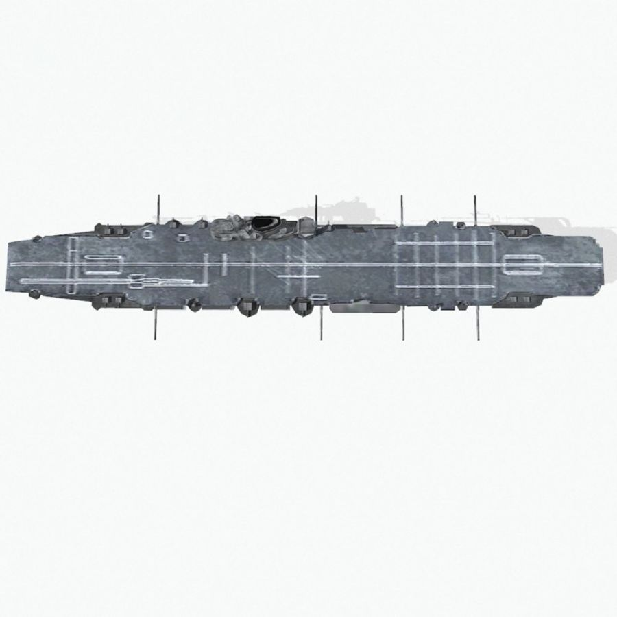 Illustrious-class aircraft carrier royalty-free 3d model - Preview no. 11