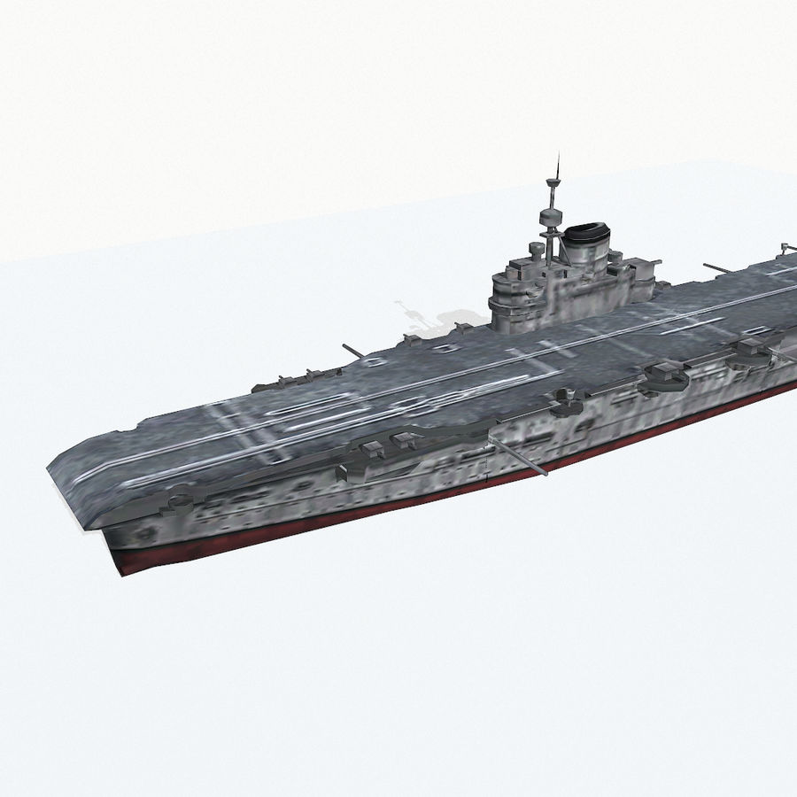 Illustrious-class aircraft carrier royalty-free 3d model - Preview no. 7