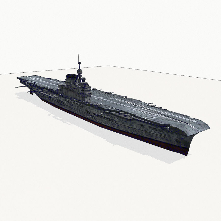 Illustrious-class aircraft carrier royalty-free 3d model - Preview no. 13