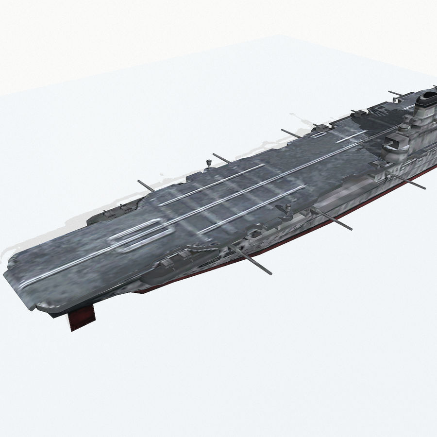Illustrious-class aircraft carrier royalty-free 3d model - Preview no. 8