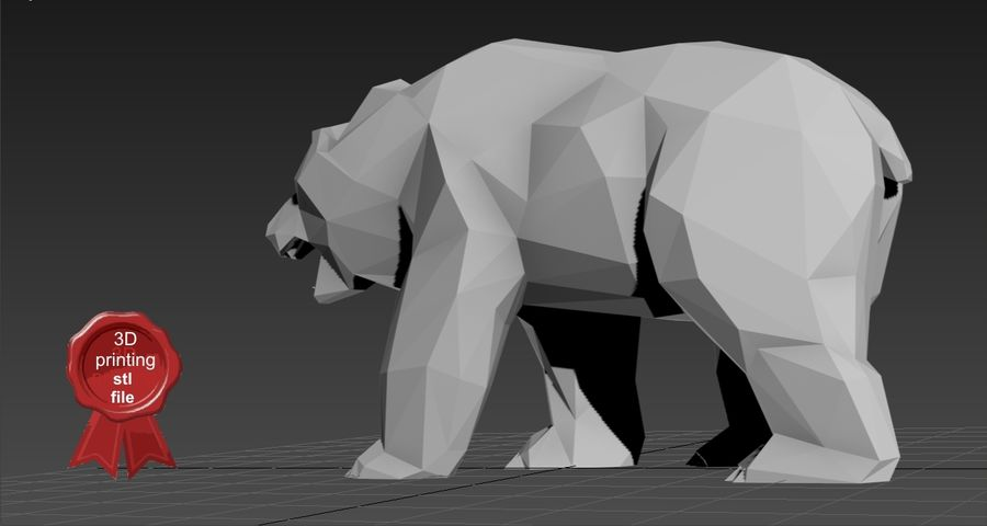 Russischer Low Poly tragen royalty-free 3d model - Preview no. 6
