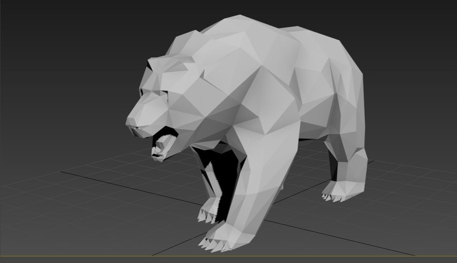Oso ruso Low Poly royalty-free modelo 3d - Preview no. 5