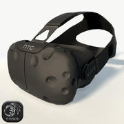 HTC Vive headset low poly 3d model