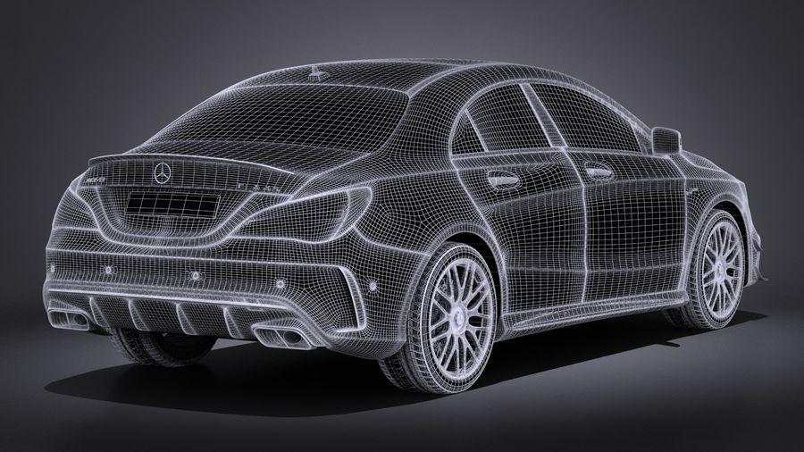 梅赛德斯 - 奔驰CLA45 AMG 2017 royalty-free 3d model - Preview no. 17