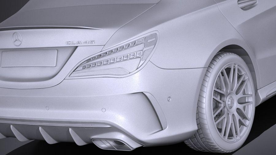 梅赛德斯 - 奔驰CLA45 AMG 2017 royalty-free 3d model - Preview no. 14