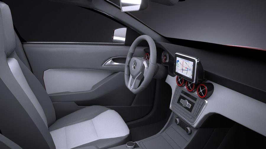 梅赛德斯 - 奔驰CLA45 AMG 2017 royalty-free 3d model - Preview no. 9
