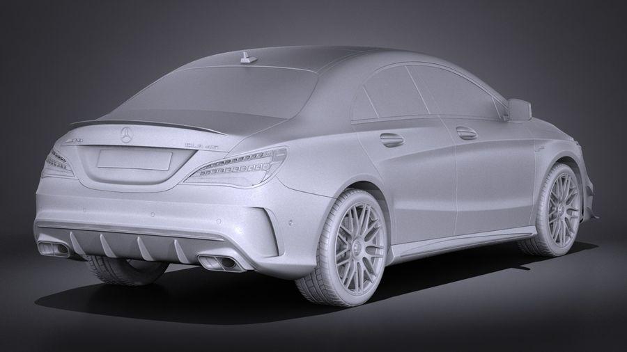 梅赛德斯 - 奔驰CLA45 AMG 2017 royalty-free 3d model - Preview no. 15