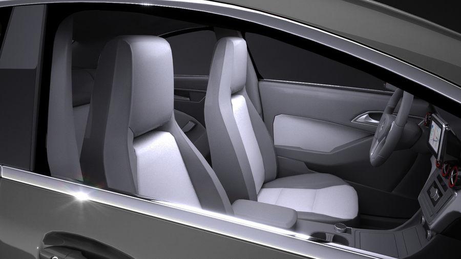 梅赛德斯 - 奔驰CLA45 AMG 2017 royalty-free 3d model - Preview no. 11