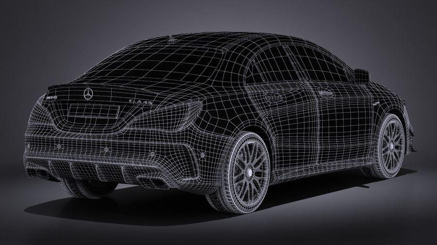 梅赛德斯 - 奔驰CLA45 AMG 2017 royalty-free 3d model - Preview no. 19