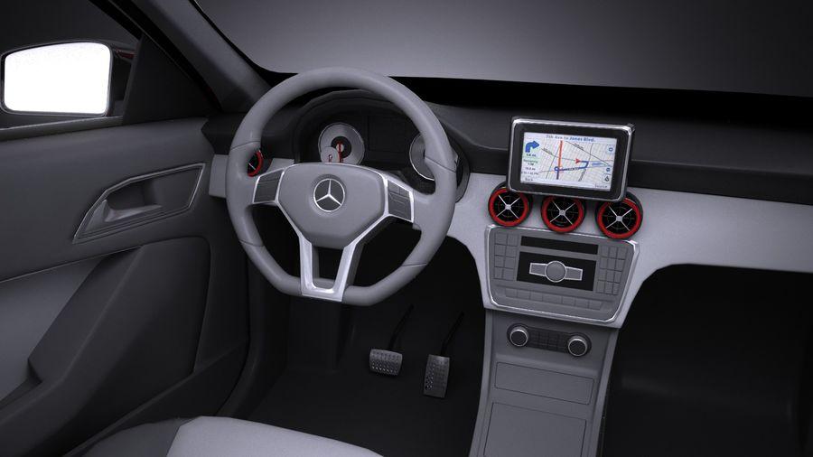 梅赛德斯 - 奔驰CLA45 AMG 2017 royalty-free 3d model - Preview no. 10