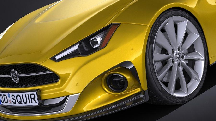 Generic Car Sport Sedan 2016 royalty-free 3d model - Preview no. 3