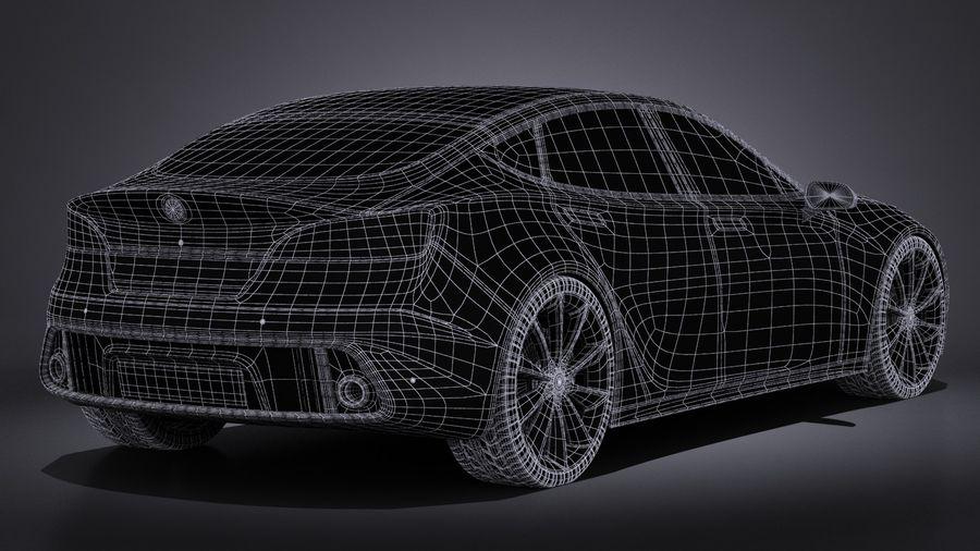 Generic Car Sport Sedan 2016 royalty-free 3d model - Preview no. 16