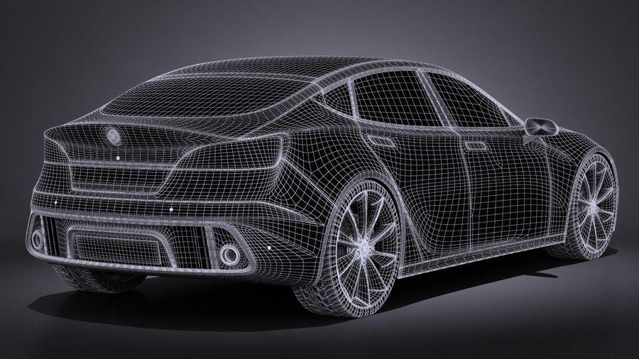 Generic Car Sport Sedan 2016 royalty-free 3d model - Preview no. 14