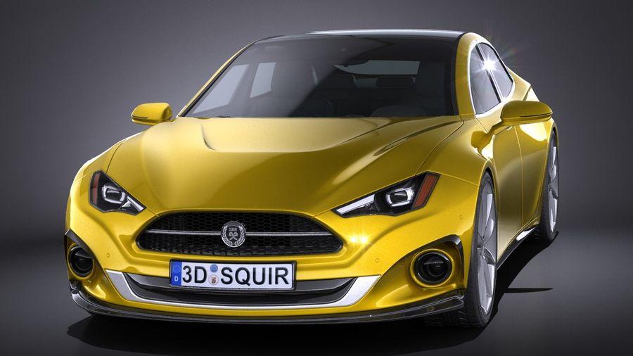 Generic Car Sport Sedan 2016 royalty-free 3d model - Preview no. 2