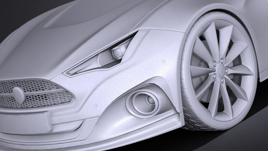 Generic Car Sport Sedan 2016 royalty-free 3d model - Preview no. 10