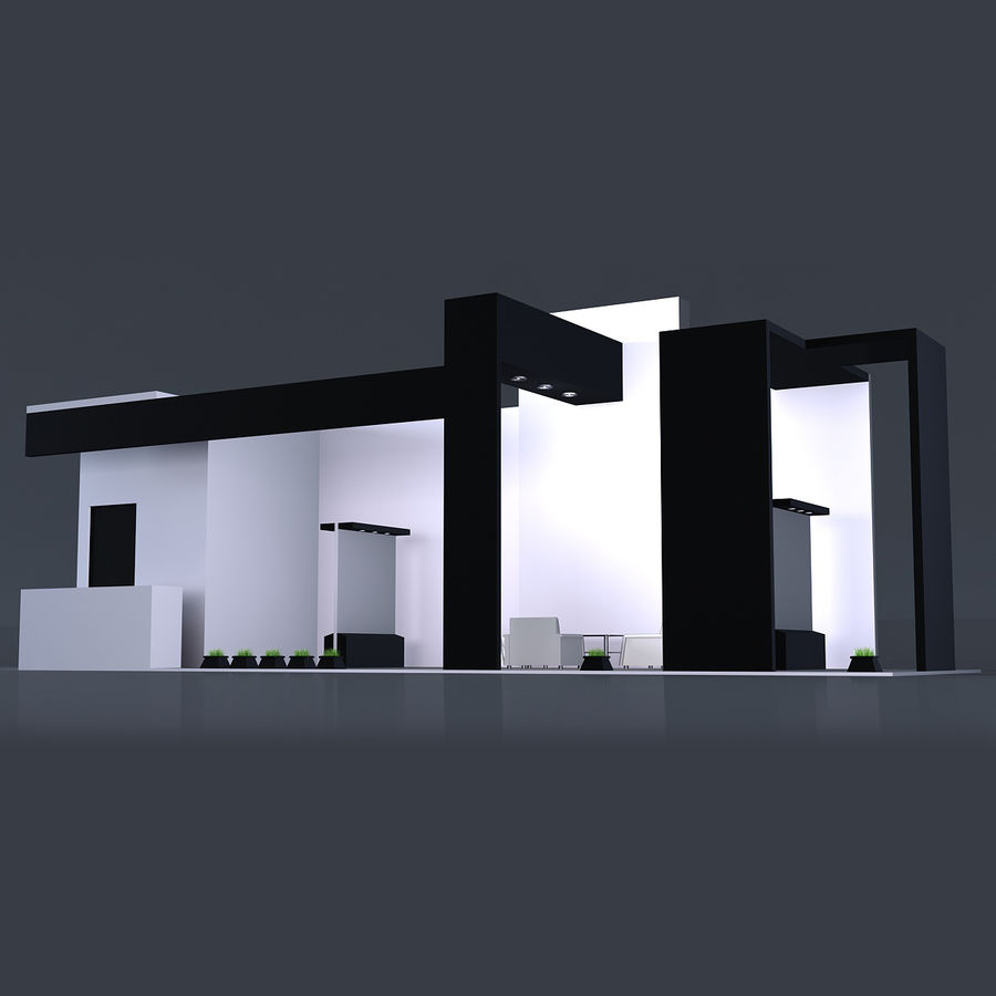 Exhibition Stand 3 royalty-free 3d model - Preview no. 1
