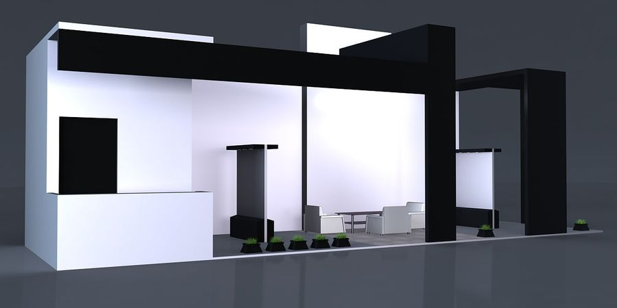Exhibition Stand 3 royalty-free 3d model - Preview no. 3