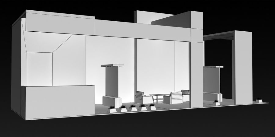 Exhibition Stand 3 royalty-free 3d model - Preview no. 6