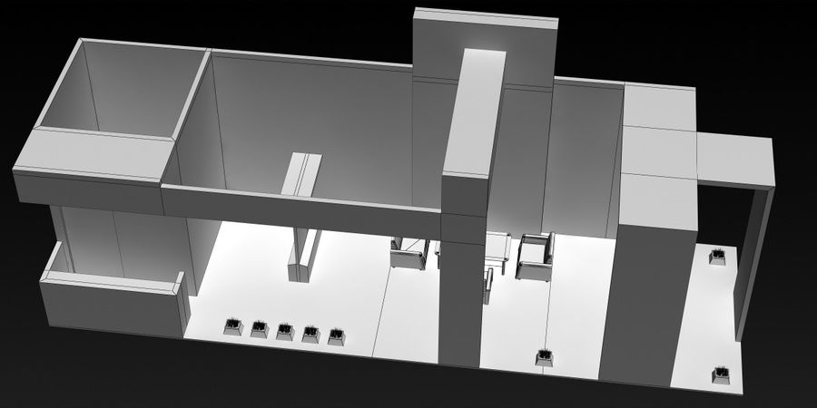 Exhibition Stand 3 royalty-free 3d model - Preview no. 7