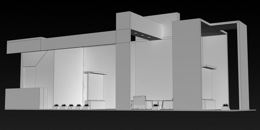 Exhibition Stand 3 royalty-free 3d model - Preview no. 5