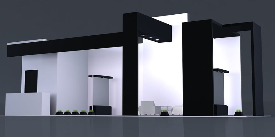 Exhibition Stand 3 royalty-free 3d model - Preview no. 2