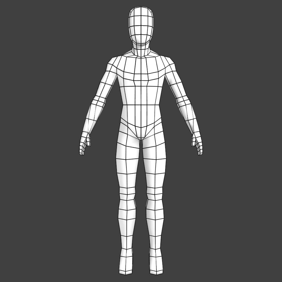 Generic Low-poly Basemesh Female royalty-free 3d model - Preview no. 1