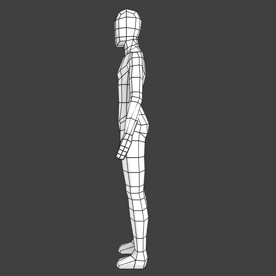 Generic Low-poly Basemesh Female royalty-free 3d model - Preview no. 2