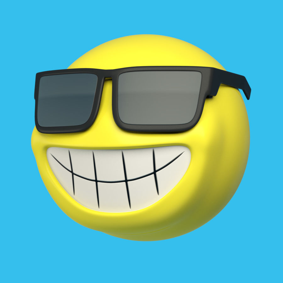 Sun-Cartoon royalty-free 3d model - Preview no. 6