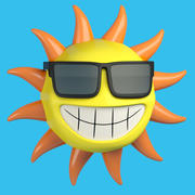 Sun Cartoon 3d model