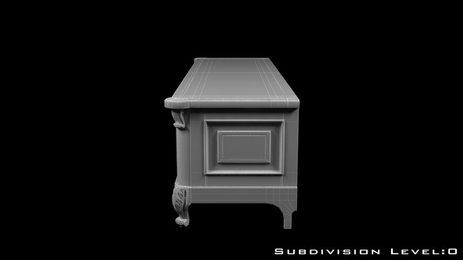 Chest of drawers royalty-free 3d model - Preview no. 11