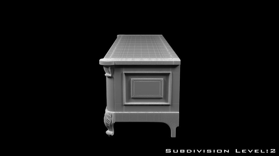 Chest of drawers royalty-free 3d model - Preview no. 12