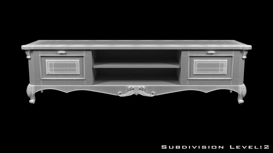 Chest of drawers royalty-free 3d model - Preview no. 10