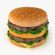 Gros hamburger 3d model