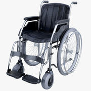 Wheel Chair Low Poly 3d model