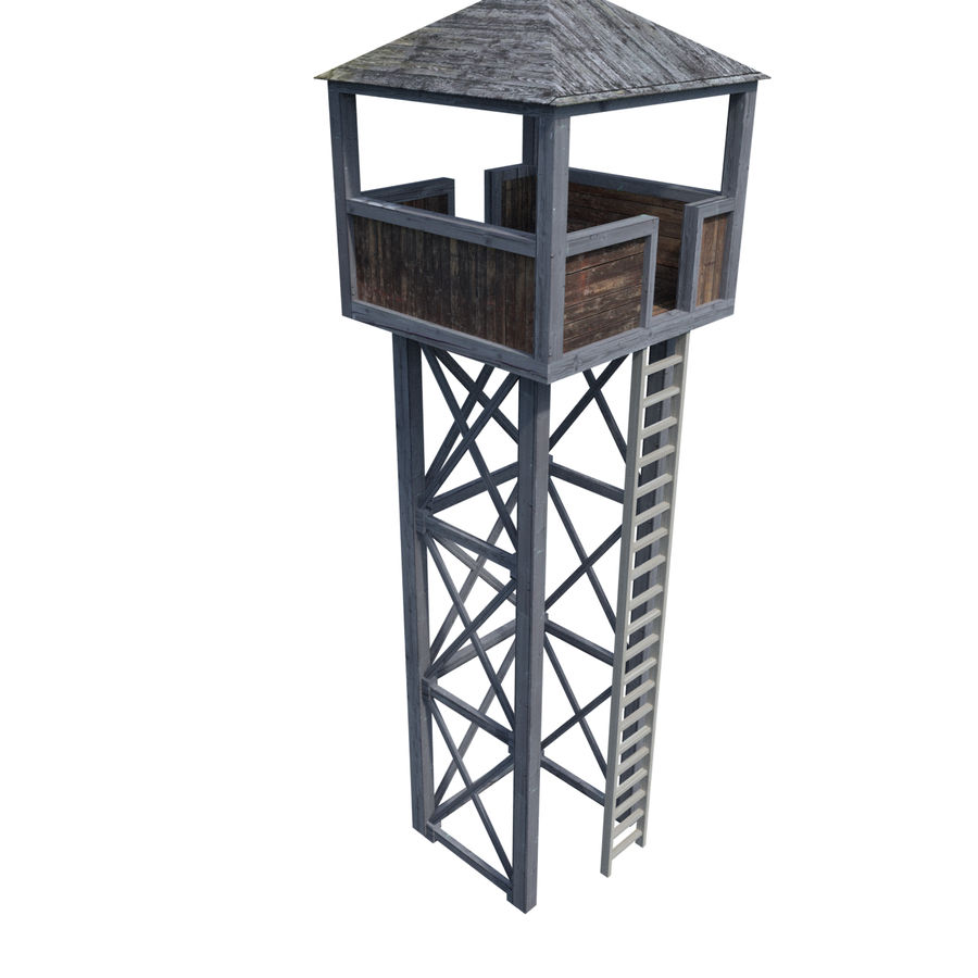 Watch Tower royalty-free 3d model - Preview no. 10