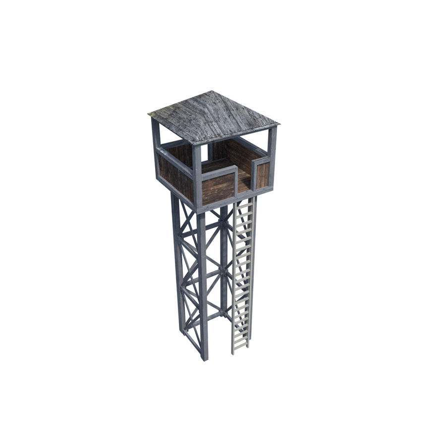 Watch Tower royalty-free 3d model - Preview no. 7